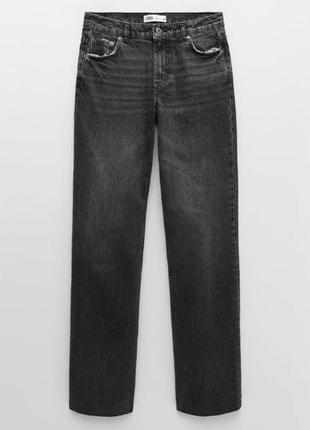 Джинсы прямые со средней посадкой, широкие штаны, брюки