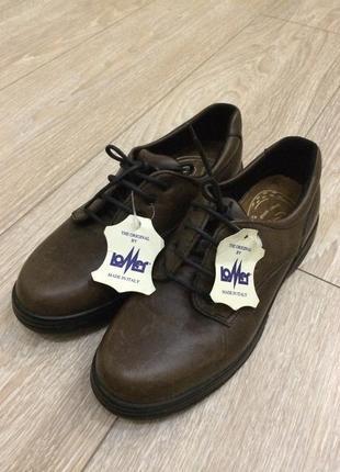 Туфли весна- осень кожаные