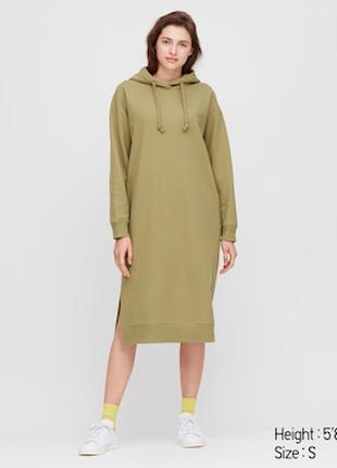 Платье толстовка uniqlo
