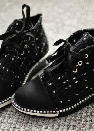 Ботинки coco chanel black весна деми 37 38 39