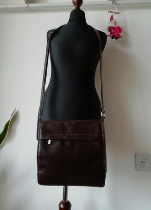 Мужская сумка кроссбоди натуральная кожа