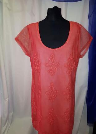 Платье сетка с вышевкой