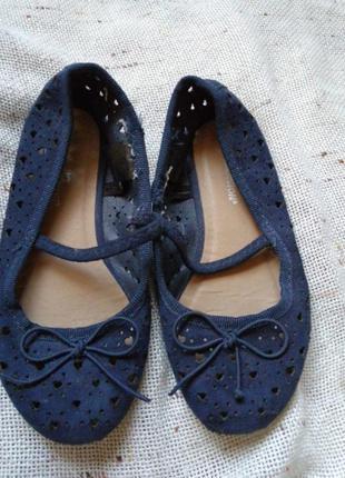 Туфли 28р темно синие