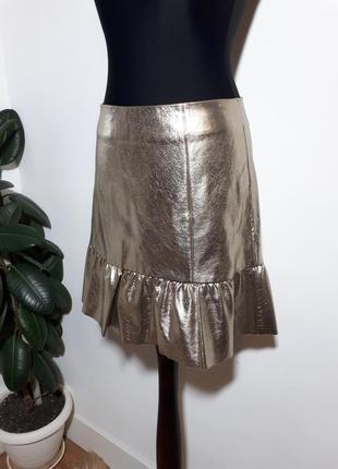 Идеальная юбка кож. зам. stradivarius