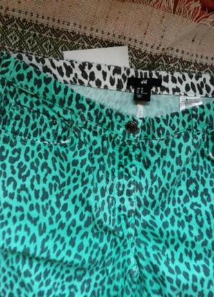 Джинсы леопард цветной