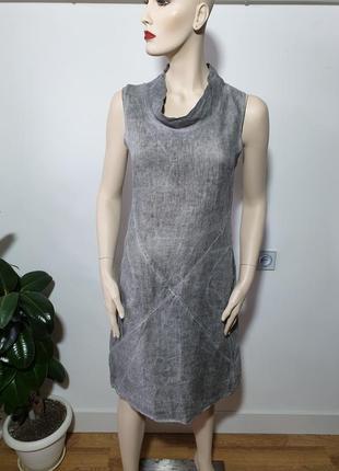 Легкое стильное льняное платье