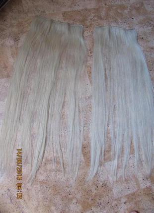 Парик  натуральные волосы на заколках
