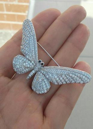 Брошь бабочка ювелирная бижутерия