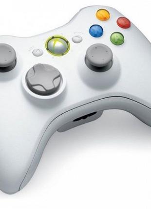 Джойстик беспроводной геймпад Xbox 360 Controller Wireless Белый
