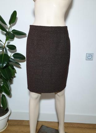 Полушерстяная юбка moschino