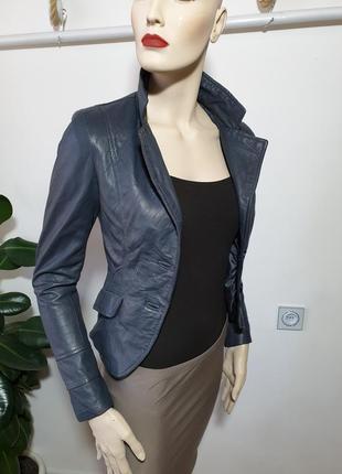 Кожаная куртка пиджак imperial