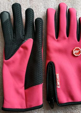 Тёплые спортивные вело перчатки