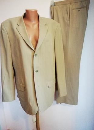Бежевый мужской деловой костюм /54/brebd selected