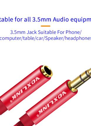 Кабельный удлинитель AUX аудио 3,5-3.5мм мм аудио кабель voxlink