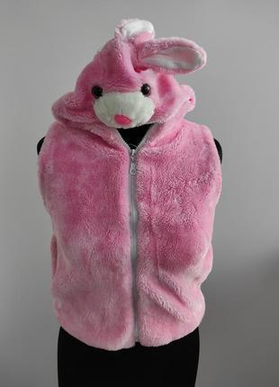 Меховая жилетка кролик, кролик питер