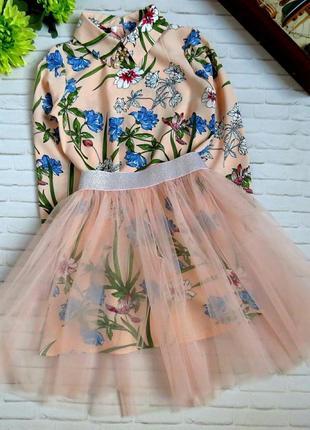 Костюм двойка платье + юбка