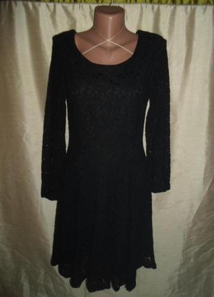 Гипюровое маленькое черное платье