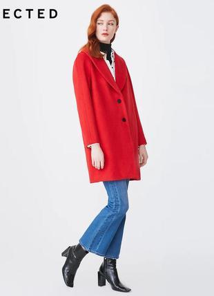 Демисезонное шерстяное пальто selected, размер м