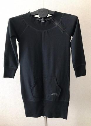 Черное платье в спортивном стиле dkny jeans