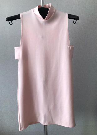 Персиковое платье с разрезами по бокам boohoo