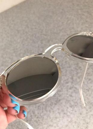 Солнцезащитные круглые очки с зеркальными линзами