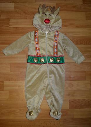 Карнавальный костюм олень на мальчика 6-9 месяцев, новогодний ...