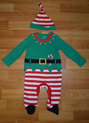 Карнавальный костюм эльф на мальчика 3 месяца, новогодний кост...
