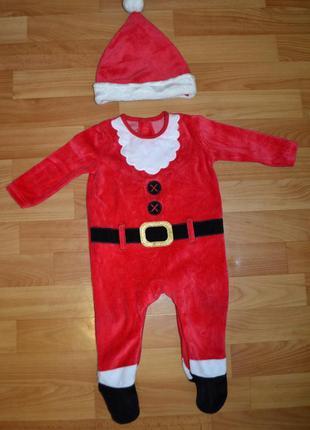 Карнавальный костюм санта на мальчика 6-9 месяцев, новогодний ...