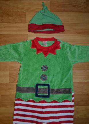 Карнавальный костюм эльф на мальчика 9-12 месяцев, костюм новы...