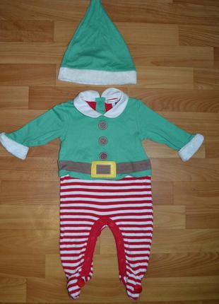 Карнавальный костюм эльф на мальчика 3-6 месяцев, костюм новый...