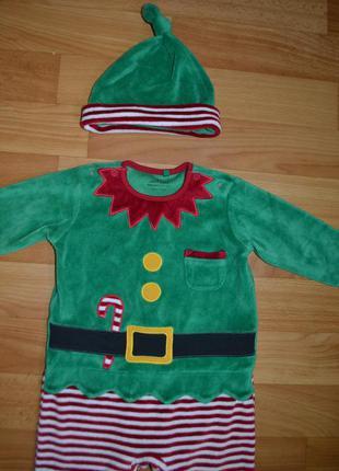 Костюм эльф на мальчика 3 месяца, костюм новый год, новогодний...