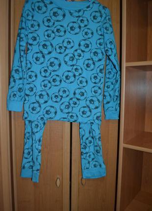 Раздельная пижама на мальчика 11-12 лет, раздельная пижама футбол
