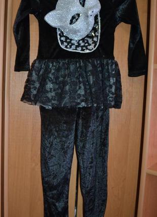 Карнавальный костюм кошка на 5-6 лет, костюм кошечка