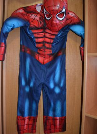 Карнавальный костюм человек паук на 3-4 года