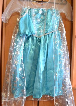 Карнавальный костюм эльза на 5-6 лет, платье эльза на 5-6 лет