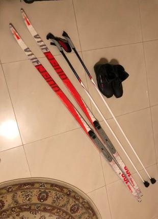 Беговые лыжи Quechua Classique 100 с ботинками (43) и палками