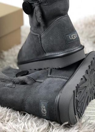 Женские угги ugg australia bailey button grey р.35-41