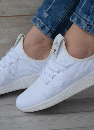 Женские кроссовки adidas x pharrell williams tennis hu primeknit