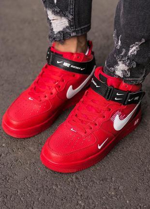 Мужские кроссовки nike air force 1 red