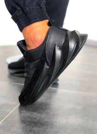Мужские кроссовки adidas sharks all black