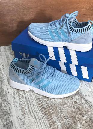 Кроссовки adidas zx flux light blue