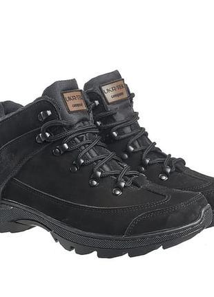 """Ботинки тактические """"комбат"""" чёрные демисезонные"""