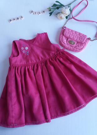 Красивое платье marks s spencer на год (на 6-18мес) family look