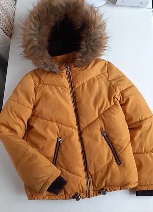 Пуховик зимний на девочку зимняя куртка пальто парка размер  xs-s