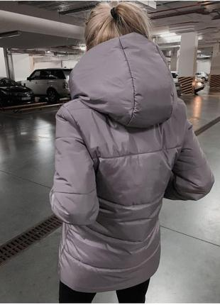 Модная и стильная куртка зефирка, пуховик зима, зимний