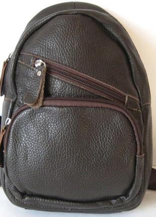 Кожаная сумка бананка unisex - рюкзак все в одном, распродажа