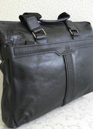 Кожаный мужской портфель - уценка!