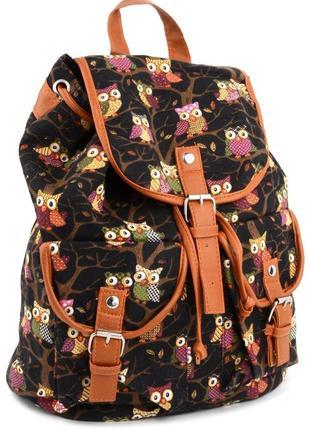 Рюкзаки молодежные с совами, городские, спортивные, модная сум...