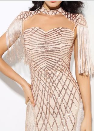 Вечернее коктейльное платье модель gold 2018 модное нарядное в...
