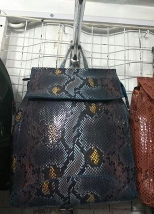 Кожаная сумка рюкзак 2019 синий, сумки рюкзаки из натуральной ...